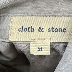 cloth & stone Tops - Cloth & stone pullover button up shirt top m gray